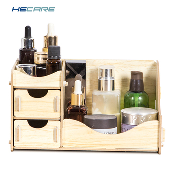 HECARE Wooden Box Storage Box for Cosmetics Wood Makeup Organizer for Storing Cosmetics Storage Organizer Drawer Organizer New 2