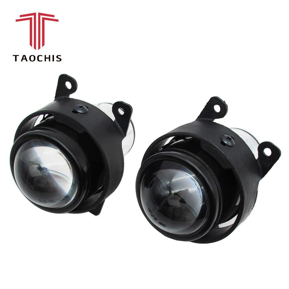 Auto 2.5 Inch Bi Xenon Foglamp Projector Lens Kit H11 Crystal Clear Mistlampen Voor Peugeot 206 207 307 308 4007 4008 Mistlamp