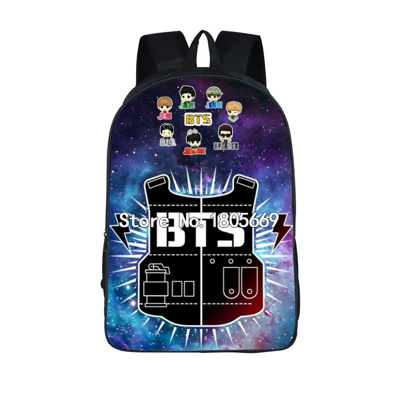 Kpop BTS EXO Got7 BAP Backpack For Teenager Bangtan Boys School backpacks Bags Women Men Hip Hop Travel Bags 2017 hot sale kpop fashion harajuku bts infinite fisland boyfriend snsd bap tvxq shinee umbrella