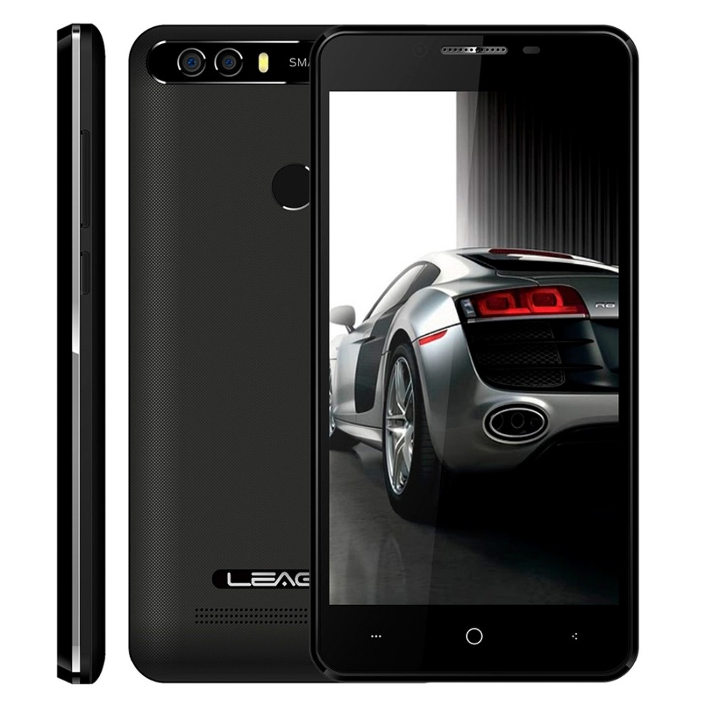 LEAGOO KIICAA PUISSANCE Téléphone Android 7.0 MTK6580A Quad Core 5.0 Pouces 2 GB RAM 16 GB ROM 8MP Double Arrière caméras D'empreintes Digitales Smartphone