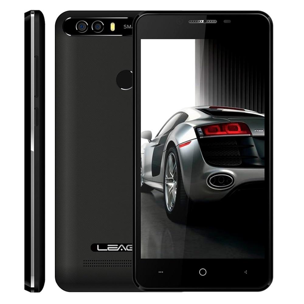 LEAGOO KIICAA energía teléfono Android 7,0 MTK6580A Quad Core 5,0 pulgadas 2 GB RAM 16 GB ROM 8MP trasera Dual cámaras Fingerprint Smartphone