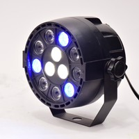 Flat Led Par Stage Light Rgbw 12W Disco Party Lights Laser Dmx Luz Dj Effect Controller