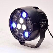 Flat led par stage light rgbw 12W disco party lights laser dmx luz Dj effect controller Dj Equipment projector luces discoteca
