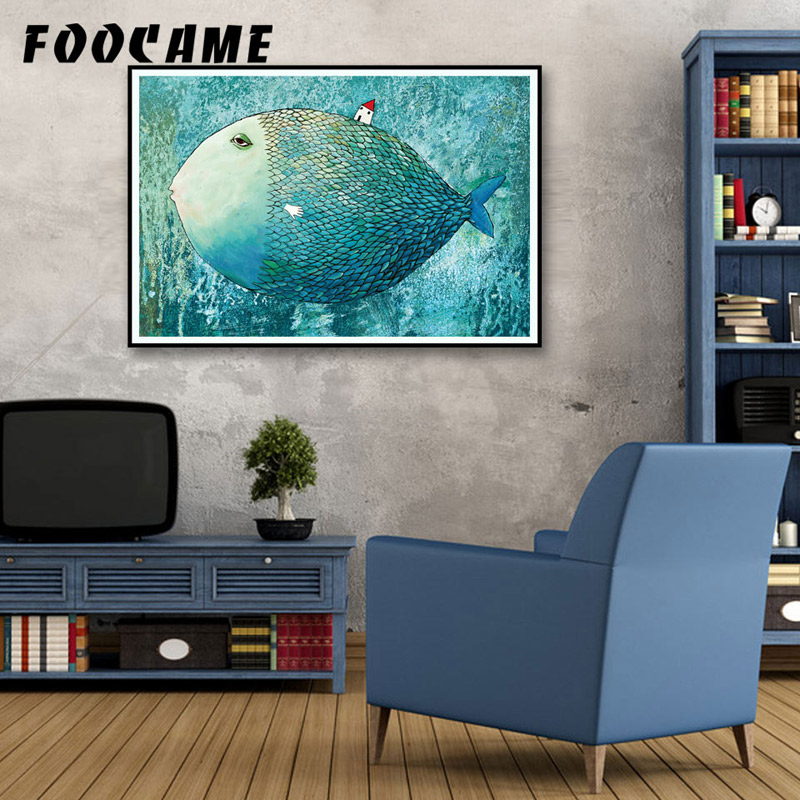 FOOCAME Big Fish Кішкентай Үйі Аннотациялар - Үйдің декоры - фото 2
