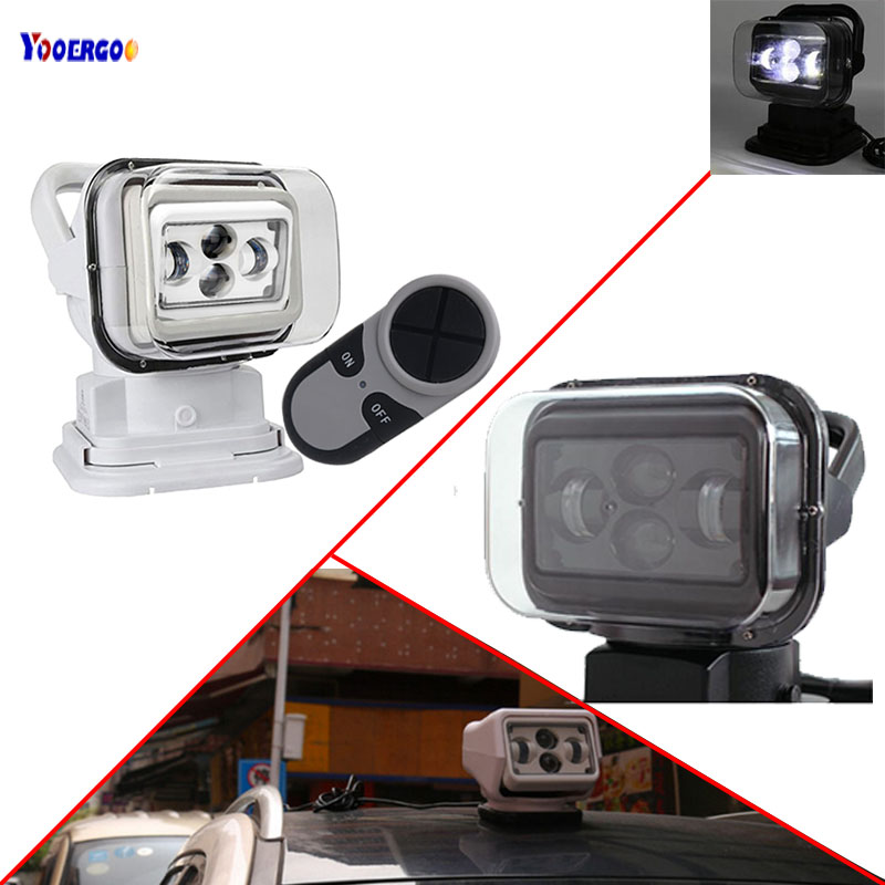 60W Wireless Led Marine SearchLight 7inch 12V 24V LED Search Light Remote Control Spot Light Car
