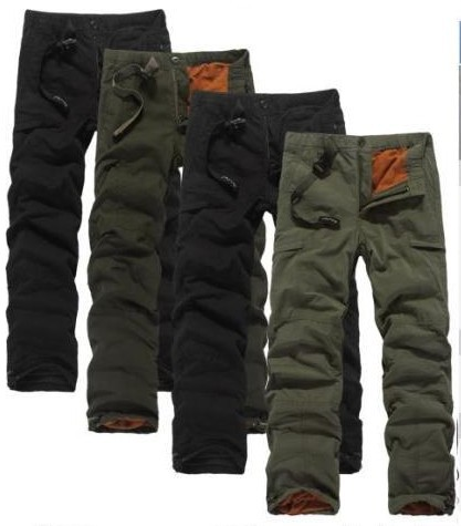Aliexpress.com : Buy Winter Double Layer Men's Cargo Pants Warm ...