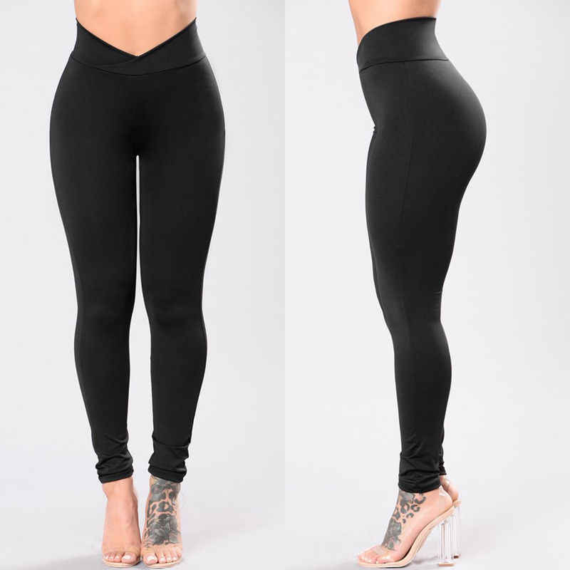New Fashion Dames Hoge Taille Elastische Leggings Fitness Workout Lange Skinny Broek Broek Casual Womens Lange Leggings