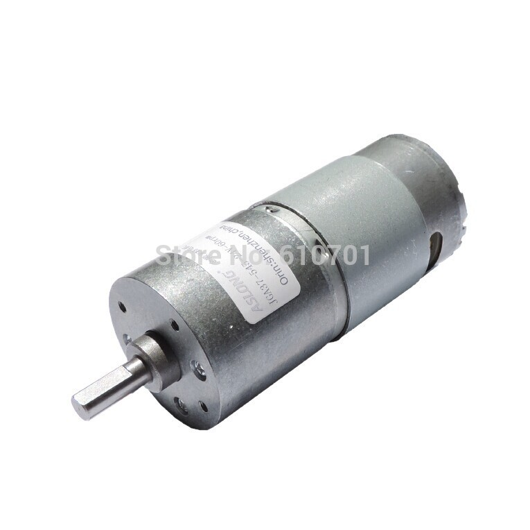 6-36V 24V Rated Voltage Rotate Speed Reduction Electric DC Geared Motor JGA37-545 400rpm 157rpm 60rpm 24rpm 14rpm 6rpm  dc 12v 60rpm 2 terminals connectortorque speed control geared motor