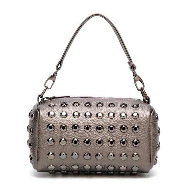 d39ac37e9ad US $39.0  Fashion Korean Female Rivet Handbags Shoulder Bag Diagonal  Premium PU Leather Crossbody Bags Woman Zipper Mobile Phone Pockets-in  Shoulder ...