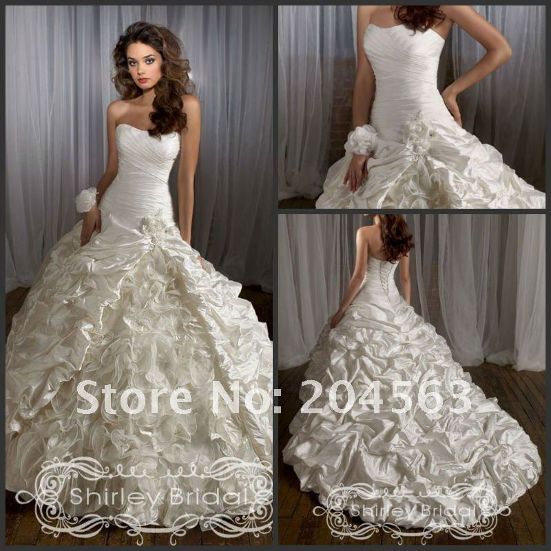Free shipping new arrive hot sell Wedding Dresses with handmade ...