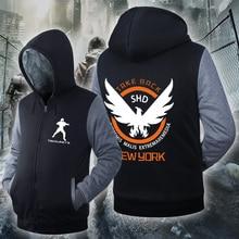 [Xinyu]2016 Sweatshirt  Mens Casual  Game Tom Clancy's The Division SHD Logo Hoodies Zip  Pattern Coats