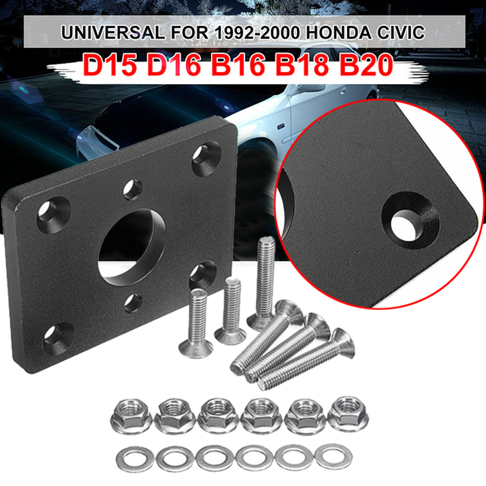 US $10 63 56% OFF|Universal Car Auto Black Brake Booster Delete Adapter  Plate For Honda Civic EG EK Integra Car Brake Booster Auto Accessories-in