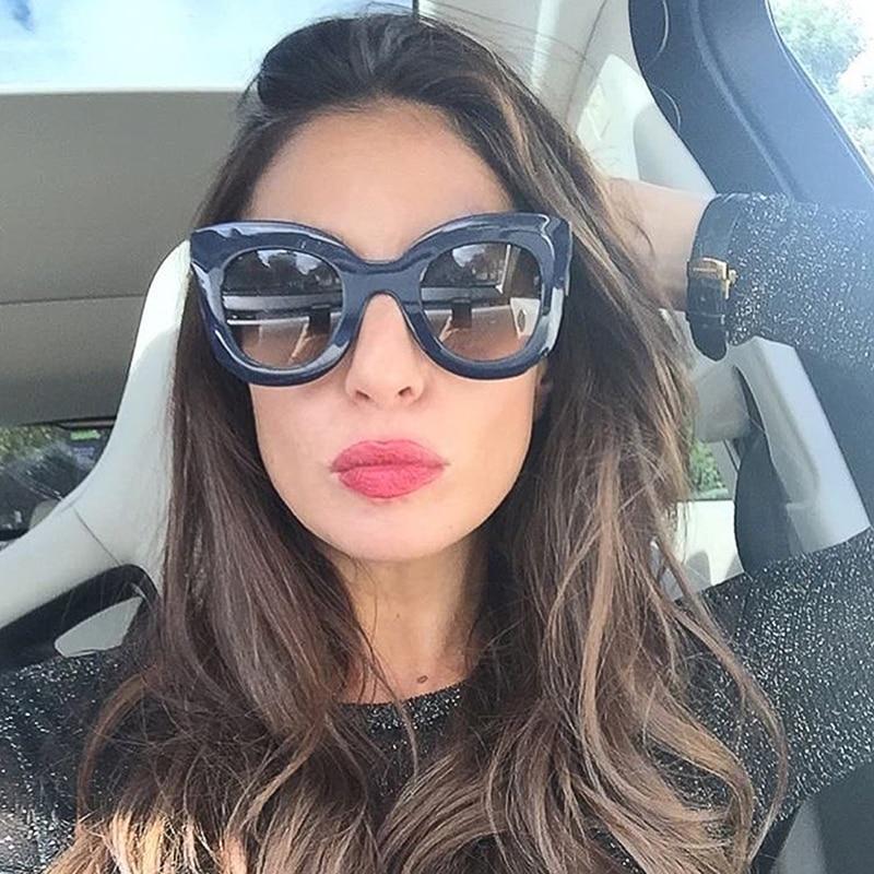 Aliexpress.com  Compre Winla 2019 óculos de Sol Da Moda Óculos De Sol Das Mulheres  Designer de Marca de Luxo Do Vintage Rebite Feminino Shades Big Quadro ... 69dd82726b