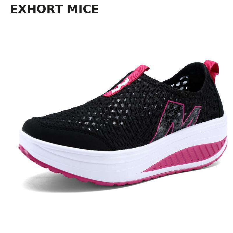 Height Increasing Shoes Women's Causal Sport Walking for Women Swing Wedges Breathable Sneakers air Mesh Platform Sport Shoes summer shoes women casual fashion height increasing women platform shoes breathable air mesh swing wedges shoe women krasovki