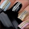 500 шт./пакет 2 ММ 3 ММ 5 ММ 6 ММ 3D Дизайн Nail Art Rhinestone Стикеры Украшения Металлическими Шипами Золото и серебро Стад 02E4
