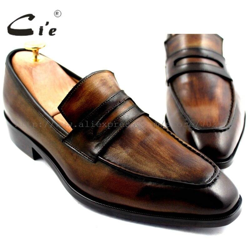 Cie送料無料手作りメンズカーフスキンアッパー内側アウトソール通気性深い緑青ブラウンボート靴スリップオンシューズno. loafer 24  グループ上の 靴 からの 正式な靴 の中 1