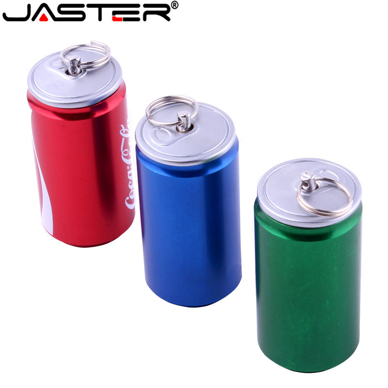 JASTER  New Creative Simulation 4GB Pen Drive 2.0 Memory Flash Stick 16GB 32GB 64GB Beer Can, Cola Can, Beverage Can Model USB