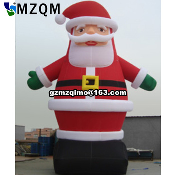 цена на free shipping! 4m/6m/8m giant outdoor christmas inflatable santa claus for advertising large outdoor christmas decorations