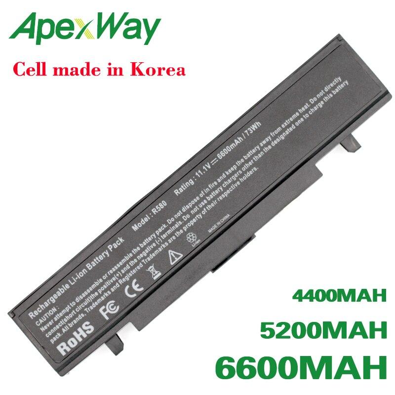 Bateria para Samsung R520 ApexWay R522 R525 R528 R540 R580 R610 R620 R718 R720 R728 R730 R780 RC410 RC510 RC530 RC710 RF411