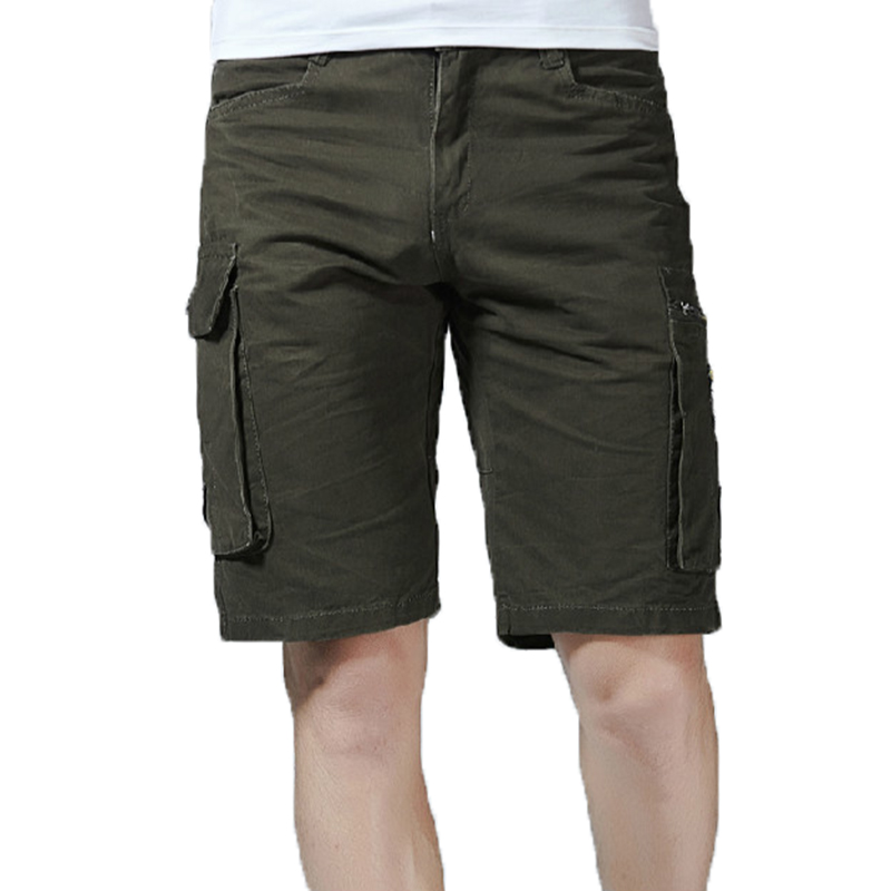 Summer 2018 Mens Baggy Multi Pocket Military Cargo Short Hot breeches Male Army Green Men Tactical Shorts Dropshipping Trousers