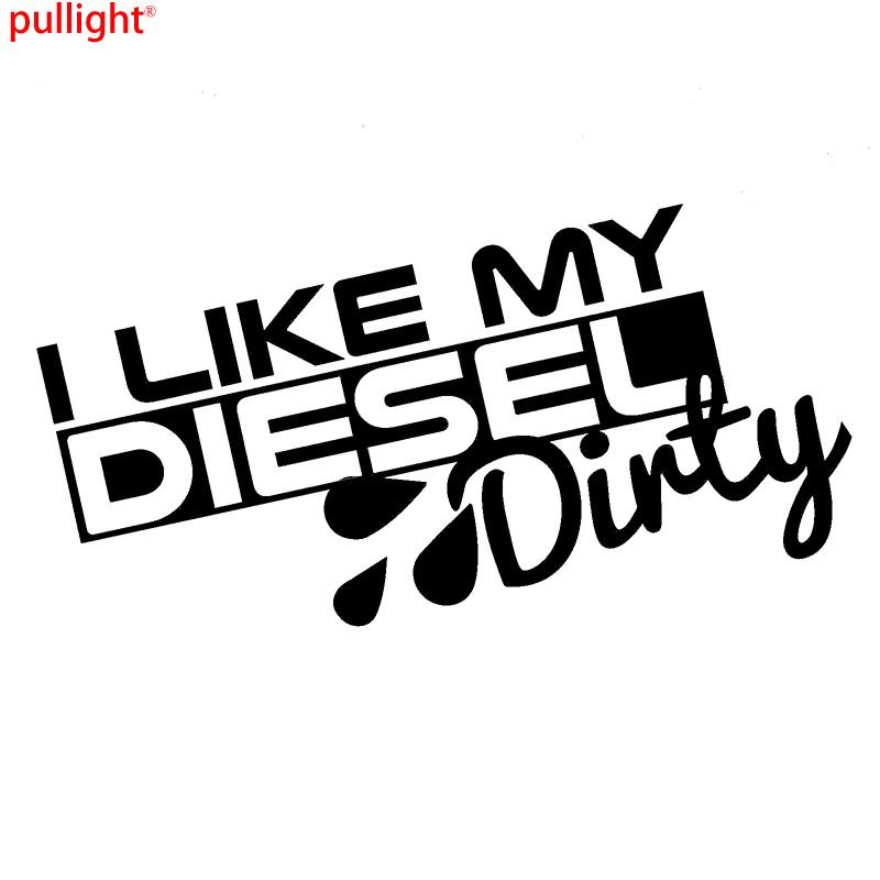 Car Styling I Like My Diesel Dirty Funny Car Sticker Window Bumper Vinyl Decal Sticker Jdm drip biohazard skull respirator funny vinyl decal sticker car window bumper diy self adhesive car styling art stickers