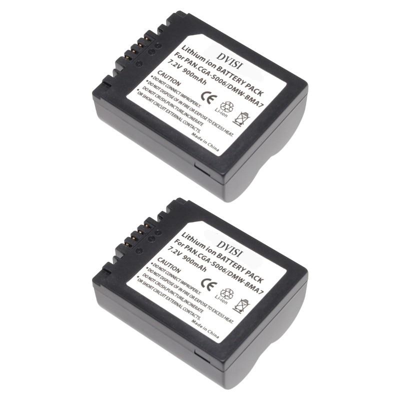 2Pc CGA-S006 CGR CGA S006E S006 S006A BMA7 DMW BMA7 Replaceable Battery for Panasonic DMC FZ7 FZ8 FZ18 FZ28 FZ30 FZ35 FZ38 FZ50 1pcs cga s006 cga s006ebattery charger car charger for panasonic cgr s006a 1b bp dc5u cgr s006e