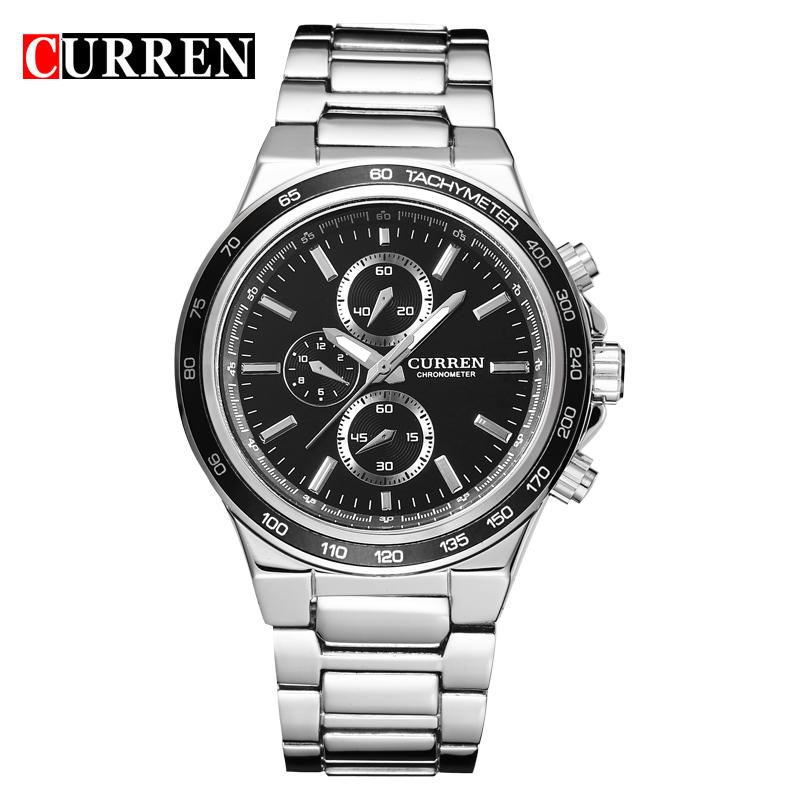 Prix pour CURREN hommes montre calendrier mâle montre quartz montre montre Marée marque de mode casual tableau masculin 8011
