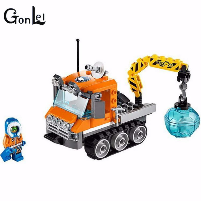 (GonLeI)10438 City Arctic Ice Crawler Set figures truck crane compatible with city block toys for children Bela куртка iriedaily city arctic parka black 700 m