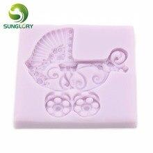 Ferramentas Bolo Baby Stroller Silicone Mold Cake Decorating Tools Fondant Decor Gum Paste 3D Moldes De Silicona Americana