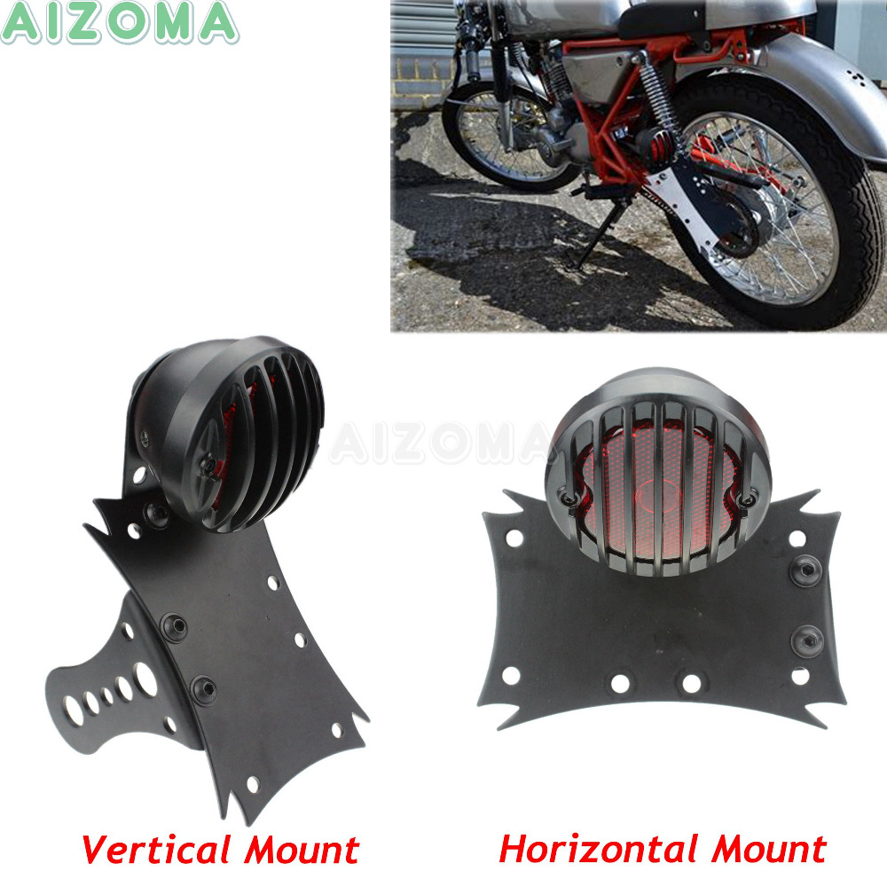 Custom Motorcycles Side Axle Mount Black License Plate Bracket Running Brake Tail Light For Harley Honda Yamaha Cafe RacerCustom Motorcycles Side Axle Mount Black License Plate Bracket Running Brake Tail Light For Harley Honda Yamaha Cafe Racer