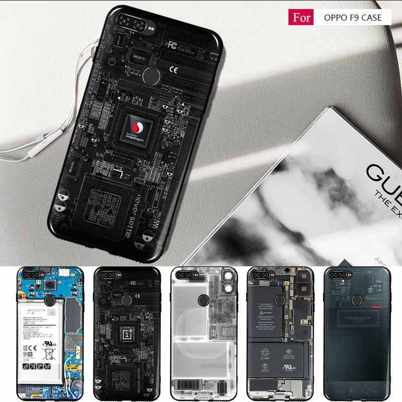 a7926d69b for oppo F9 pro Case oppo a7x cover Silicon Retro battery Painting Soft TPU  Back Cover