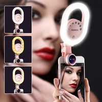 Ulanzi ISF LED Selfie Ring Light Supplement Brightness Photo Light Clip-on Makeup Beauty Video Lamp for iPhone Samsung S8 S7 5