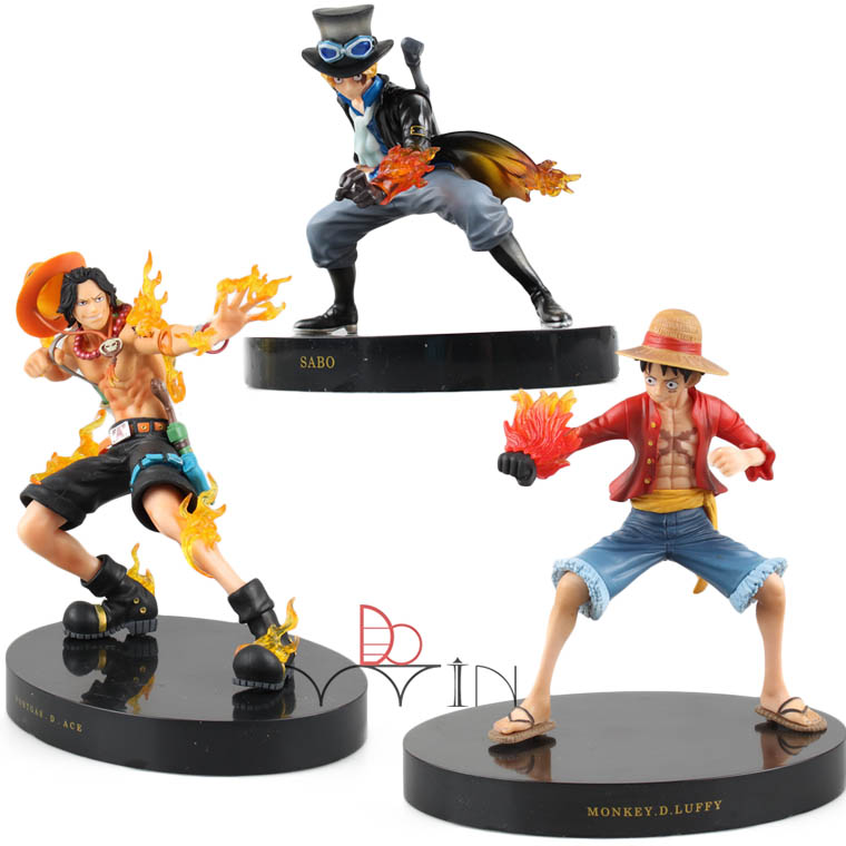 Frank New One Piece Sabo Monkey D Luffy Ultraman Ace Pvc Action Figure Battle Ver Anime Model Toy Collection Gift Juguetes Ns5 Toys & Hobbies