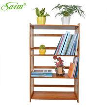 4 Tiers Bookcase Shelving Unit Bookshelf Stand Free Display Shelf Bamboo Storage Home Book Rack Storage Holders YWHBJJ05179