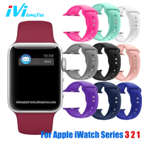 IVI For Apple Cover IPhone Watch Band 42mm 38mm Series 1 2 3 Strap Sport Silicone