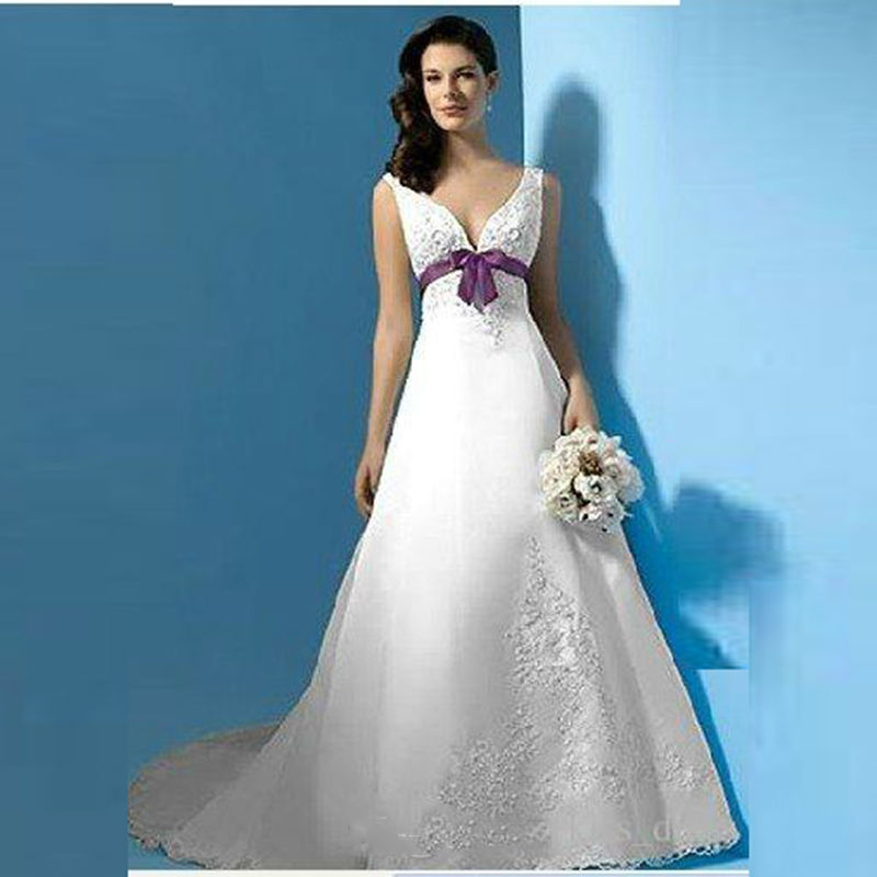 Online buy wholesale bridal gown colors from china bridal for Wedding dress with purple embroidery