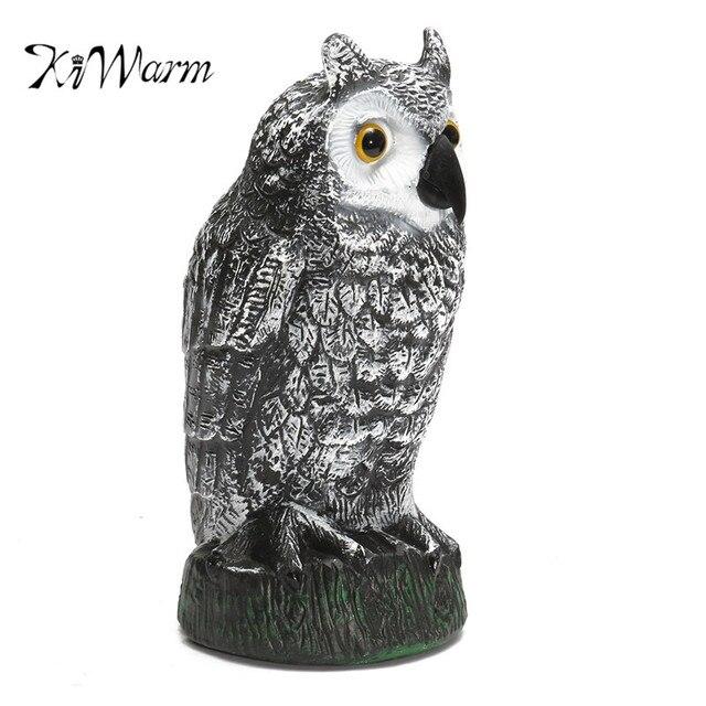 KiWarm Useful Owl Decoy Figurines Garden Protection Pest Repellent