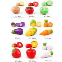 45 Sets Of Children's Simulation Plastic Fruit Cuts / Kindergarten Teaching Aids / Cut Vegetables Parent Child Interactive Toys