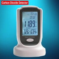 Мини рабочего углекислый газ регистратор качество воздуха в помещении Температура RH CO2 детектор газа метр Дата и время звук-свет сигнал тре...
