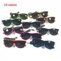 Stage Design Holiday Lighting Decoration 20pieces EL Wire Glasses with dark lens Glowing Product 10Colors Select