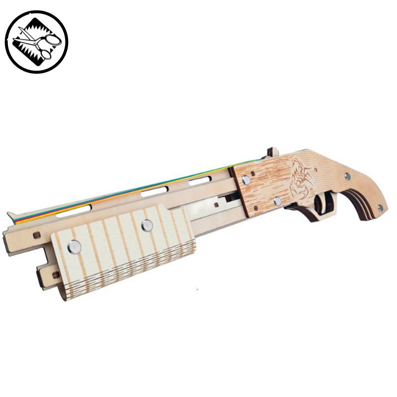 Yandex 3D Rubber band gun model Wooden Jigsaw Puzzle stereo model handmade art collection model children educational toys funny wooden diy three dimensional jigsaw model pistol intelligence handmade assembling gun toys