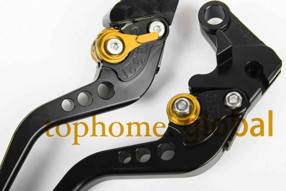 Short  CNC Clutch Brake Levers Motorcycle Accessories For SUZUKI DL650 V-STROM 2004-2010 2005 2006 2007 2008 Black Handlebar cnc 3d folding adjustable brake clutch levers for suzuki dl650 v strom 2004 2010