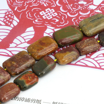 cdb6a9f20d2c Rectángulo los granos flojos multicolores Picasso 10x14mm 13x18mm tamaño  opcional 15 pulgadas piedra superventas cuentas de la joyería de las  mujeres al por ...