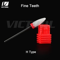 Victool Ceramic Nail Bits Fine Teeth 3 32 Shank For Electric Manicure Drill Machine Dental Drill