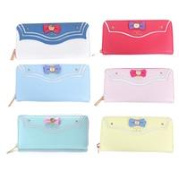 Princess sweet lolita wallet Japanese girl soldier wallet female long zipper bow cute and fashion lady bag Long Purse WW027