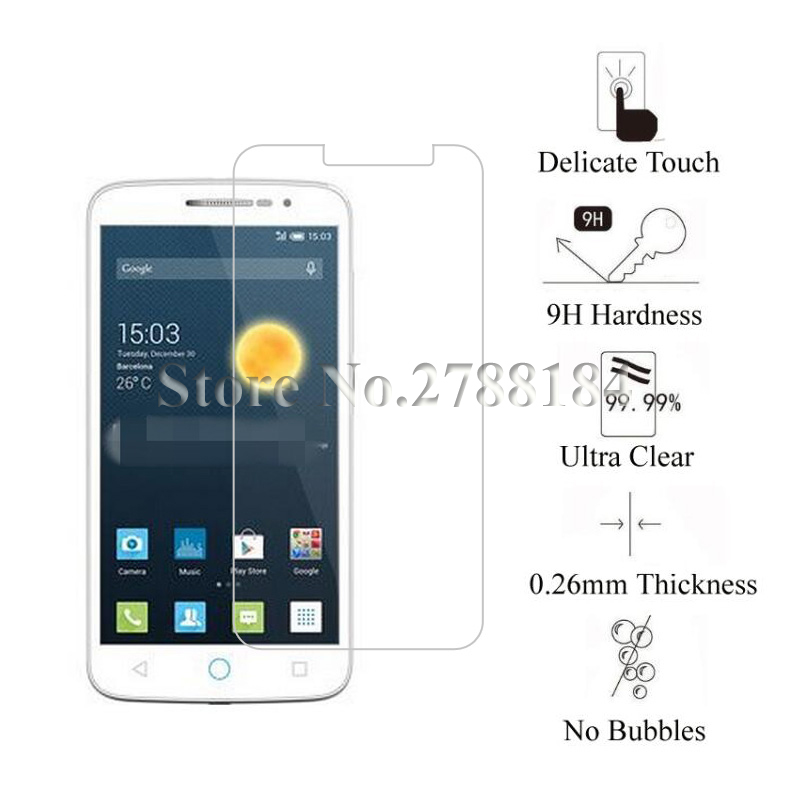 2pcs Premium Tempered Glass For Alcatel One Touch Pop 2 4.5 Pop2 4.5 inch 5042A/D/E/F/G/W/X Screen Protector Guard Film Glass