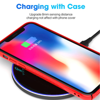 DCAE QI Wireless Charger USB Type C 10W 15W Max for IPhone 11 XS XR X 8 Fast Charging For Samsung S10 Xiaomi Mi 9 Huawei P30 Pro 5