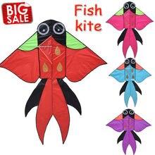 Outdoor Fun Sports Large Kite Cartoon Choi Fight Goldfish Kites Beach Kites Kitesurf Tail Children's Gift Easy Control Flying