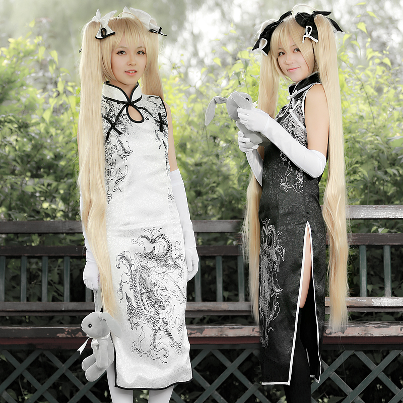Kasugano Sora Cosplay Costumes Cheongsam Japanese Anime In solitude, where we are least alone Cosplay