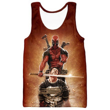 Cloudstyle novo verão homem tanques topos 3d deadpool masculino tanques topos punisher tanques topos masculino casual personalizar colete plus size 5xl(China)